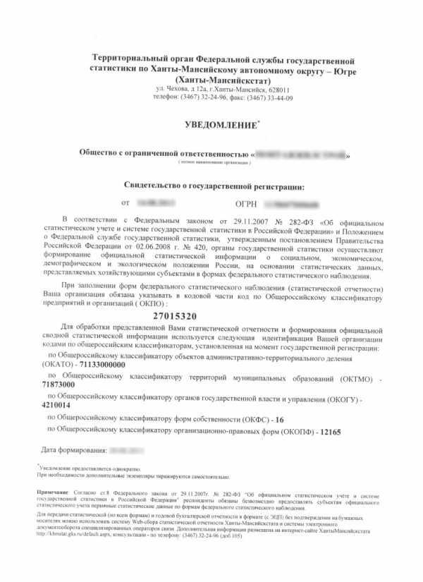 Регистрация ооо в статрегистре заявление енвд ип при регистрации