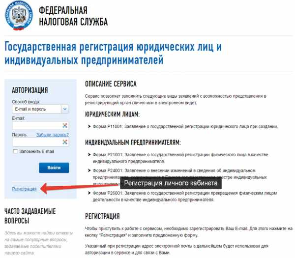 заполнить онлайн заявление о регистрации ип в качестве