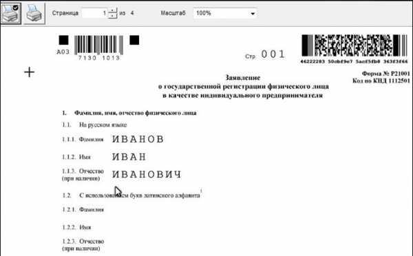Заявление о регистрации ип налогоплательщик юл срок давности декларация ндфл