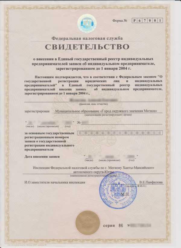 Регистрация ип до 2004 года отчетность в ифнс по электронным