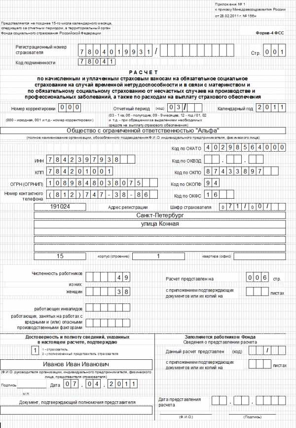 Заявление на регистрацию ип как работодателя в фсс как сдать декларацию по ндфл